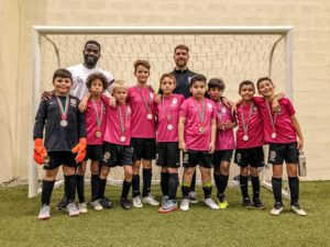 U10s football runners up