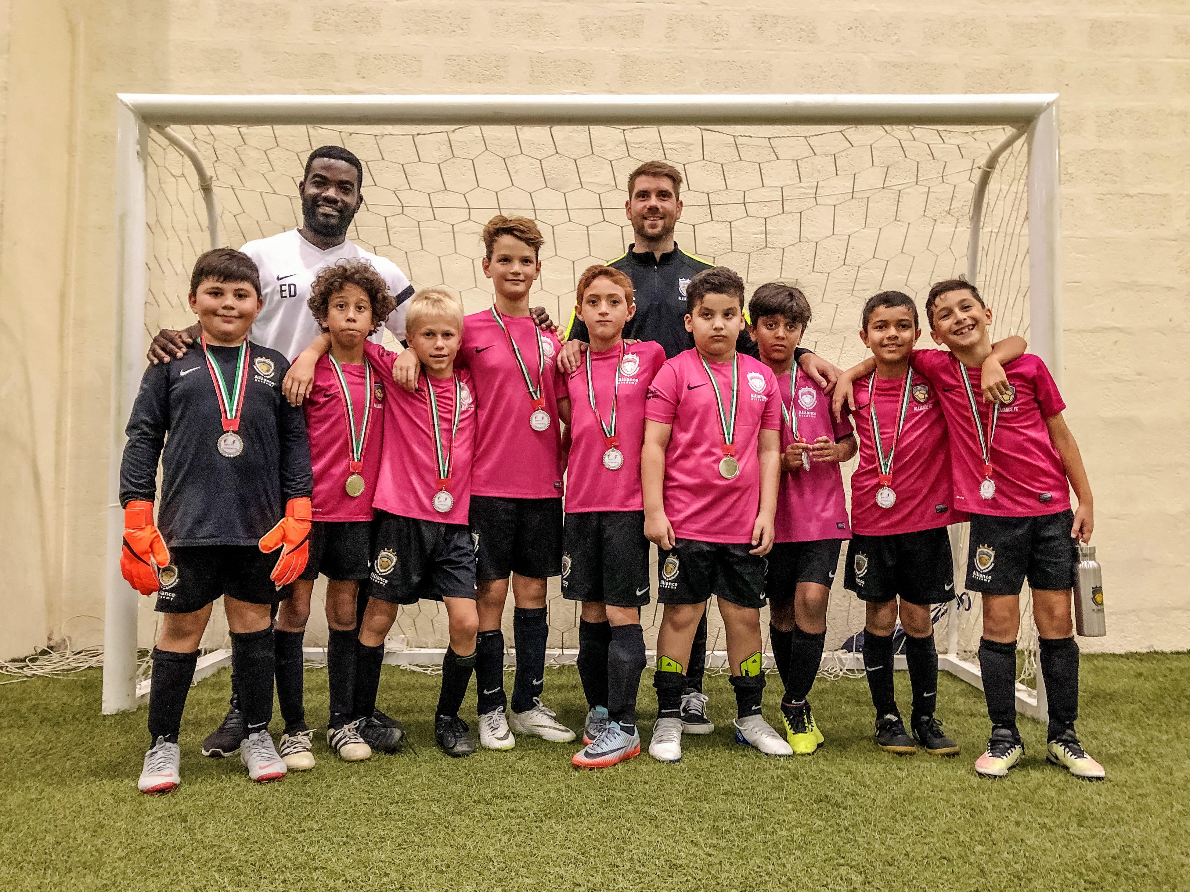 U10s football runners up