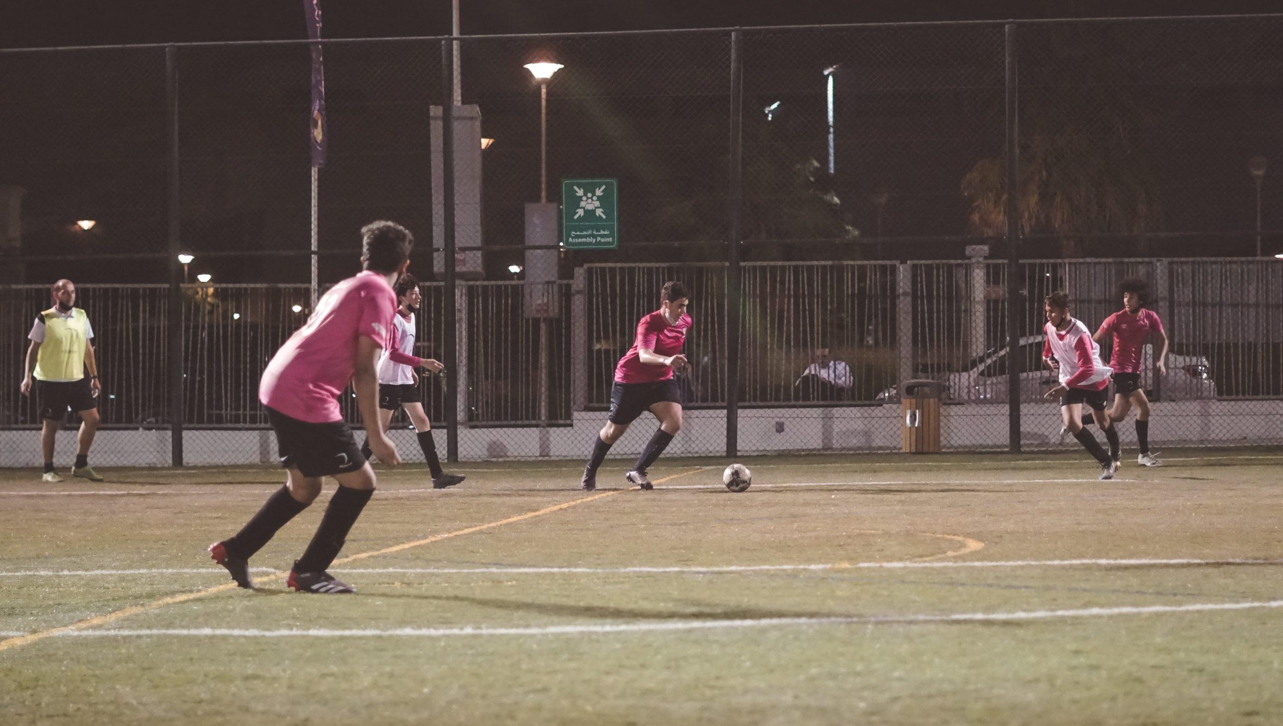 U16s boys football training dubai