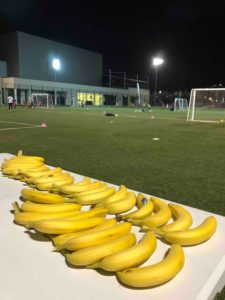 healthy snack for young footballers